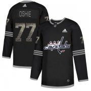 Wholesale Cheap Adidas Capitals #77 T.J. Oshie Black_1 Authentic Classic Stitched NHL Jersey