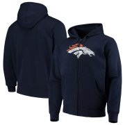 Wholesale Cheap Denver Broncos G-III Sports by Carl Banks Primary Logo Full-Zip Hoodie Navy