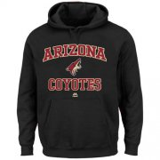 Wholesale Cheap Arizona Coyotes Majestic Heart & Soul Hoodie Black