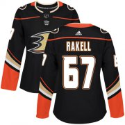 Wholesale Cheap Adidas Ducks #67 Rickard Rakell Black Home Authentic Women's Stitched NHL Jersey