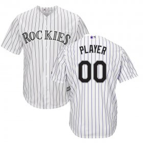 Wholesale Cheap Colorado Rockies Majestic Home Cool Base Custom Jersey White