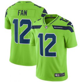 Wholesale Cheap Nike Seahawks #12 Fan Green Men\'s Stitched NFL Limited Rush Jersey