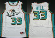 Wholesale Cheap Detroit Pistons #33 Grant Hill White Swingman Throwback Jersey