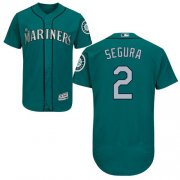Wholesale Cheap Mariners #2 Jean Segura Green Flexbase Authentic Collection Stitched MLB Jersey