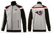 Wholesale Cheap NFL Los Angeles Rams Team Logo Jacket Grey