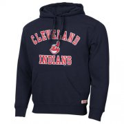 Wholesale Cheap Cleveland Indians Fastball Fleece Pullover Navy Blue MLB Hoodie