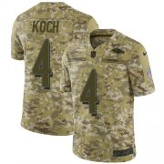 Wholesale Cheap Nike Ravens #4 Sam Koch Camo Men's Stitched NFL Limited 2018 Salute To Service Jersey