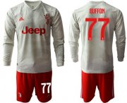Wholesale Cheap Juventus #77 Buffon Away Long Sleeves Soccer Club Jersey