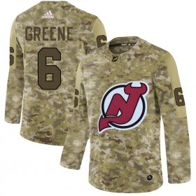 Wholesale Cheap Adidas Devils #6 Andy Greene Camo Authentic Stitched NHL Jersey