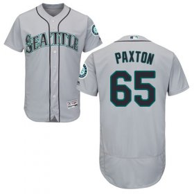 Wholesale Cheap Mariners #65 James Paxton Grey Flexbase Authentic Collection Stitched MLB Jersey