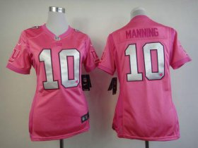 Wholesale Cheap Nike Giants #10 Eli Manning Pink Women\'s Be Luv\'d Stitched NFL Elite Jersey