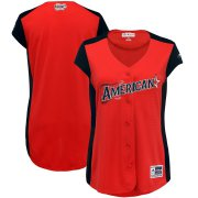 Wholesale Cheap American League Blank Majestic Women's 2019 MLB All-Star Game Workout Team Jersey Red Navy