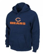 Wholesale Cheap Chicago Bears Sideline Legend Authentic Logo Pullover Hoodie Dark Blue