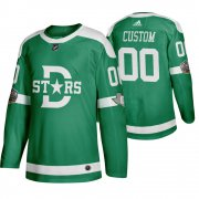 Wholesale Cheap Adidas Dallas Stars Custom Men's Green 2020 Winter Classic Retro NHL Jersey