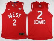 Wholesale Cheap 2015-16 NBA Western All-Stars Men's #2 Kawhi Leonard Revolution 30 Swingman Red Jersey