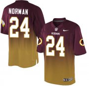 Wholesale Cheap Nike Redskins #24 Josh Norman Burgundy Red/Gold Men's Stitched NFL Elite Fadeaway Fashion Jersey