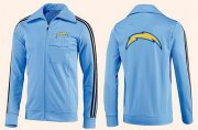 Wholesale Cheap NFL Los Angeles Chargers Team Logo Jacket Light Blue_2