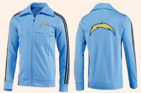 Wholesale NFL Los Angeles Chargers Team Logo Jacket Light Blue_2