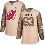 Wholesale Cheap Adidas Devils #63 Jesper Bratt Camo Authentic 2017 Veterans Day Stitched Youth NHL Jersey