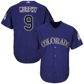 Wholesale Cheap Rockies #9 Daniel Murphy Purple Cool Base Stitched Youth MLB Jersey