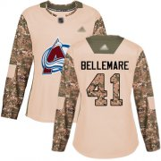 Wholesale Cheap Adidas Avalanche #41 Pierre-Edouard Bellemare Camo Authentic 2017 Veterans Day Women's Stitched NHL Jersey