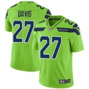 Wholesale Cheap Nike Seahawks #27 Mike Davis Green Men's Stitched NFL Limited Rush Jersey
