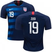Wholesale Cheap USA #19 Zusi Away Soccer Country Jersey