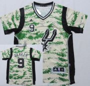 Wholesale Cheap San Antonio Spurs #9 Tony Parker Revolution 30 Swingman 2014 New Camo Short-Sleeved Jersey