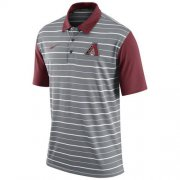 Wholesale Cheap Men's Arizona Diamondbacks Nike Gray Dri-FIT Stripe Polo