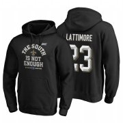 Wholesale Cheap New Orleans Saints #23 Marshon Lattimore 2019 NFC South Division Champions Black Cover Two Hoodie