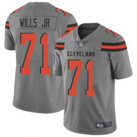 Wholesale Cheap Nike Browns #71 Jedrick Wills JR Gray Youth Stitched NFL Limited Inverted Legend Jersey