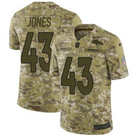 Wholesale Cheap Nike Broncos #43 Joe Jones Camo Men\'s Stitched NFL Limited 2018 Salute To Service Jersey