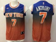 Wholesale Cheap New York Knicks #7 Carmelo Anthony Blue/Orange Resonate Fashion Jersey