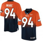Wholesale Cheap Nike Broncos #94 DeMarcus Ware Orange/Navy Blue Men's Stitched NFL Elite Fadeaway Fashion Jersey