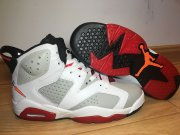 Wholesale Cheap Womens Jordan 6 Bugs Bunny White/Grey-Gym Red-Black