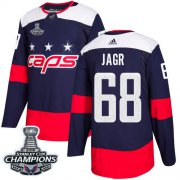 Wholesale Cheap Adidas Capitals #68 Jaromir Jagr Navy Authentic 2018 Stadium Series Stanley Cup Final Champions Stitched NHL Jersey