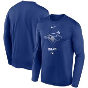 Wholesale Cheap Men's Toronto Blue Jays Nike Royal Authentic Collection Legend Performance Long Sleeve T-Shirt