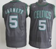 Wholesale Cheap Boston Celtics #5 Kevin Garnett Black Rhythm Fashion Jersey