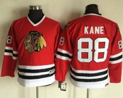 Wholesale Cheap Blackhawks #88 Patrick Kane Red CCM Throwback Stitched Youth NHL Jersey