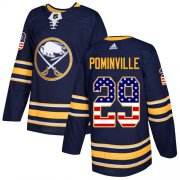 Wholesale Cheap Adidas Sabres #29 Jason Pominville Navy Blue Home Authentic USA Flag Youth Stitched NHL Jersey