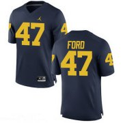 Wholesale Cheap Men's Michigan Wolverines #47 Gerald Ford Navy Blue Stitched College Football Brand Jordan NCAA Jersey