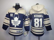 Wholesale Cheap Maple Leafs #81 Phil Kessel Blue Sawyer Hooded Sweatshirt Stitched Youth NHL Jersey