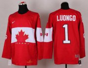 Wholesale Cheap Olympic 2014 CA. #1 Roberto Luongo Red Stitched NHL Jersey