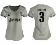 Wholesale Cheap Women's Juventus #3 Chiellini Away Soccer Club Jersey