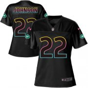 Wholesale Cheap Nike Jets #22 Trumaine Johnson Black Women's NFL Fashion Game Jersey