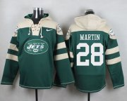 Wholesale Cheap Nike Jets #28 Curtis Martin Green Player Pullover NFL Hoodie