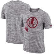 Wholesale Cheap Washington Redskins Nike Sideline Legend Velocity Travel Performance T-Shirt Heathered Black