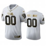 Wholesale Cheap Carolina Panthers Custom Men's Nike White Golden Edition Vapor Limited NFL 100 Jersey