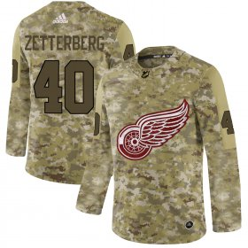 Wholesale Cheap Adidas Red Wings #40 Henrik Zetterberg Camo Authentic Stitched NHL Jersey