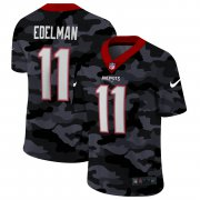 Cheap New England Patriots #11 Julian Edelman Men's Nike 2020 Black CAMO Vapor Untouchable Limited Stitched NFL Jersey